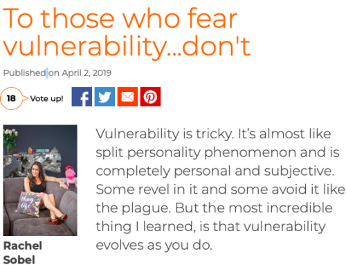 To Those Who Fear Vulnerability…Don't.